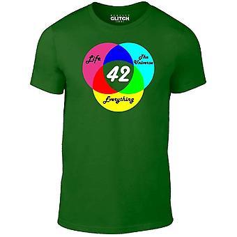 Mannen ' s antwoord is 42 t-shirt