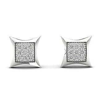 Boucles d'oreilles en forme de cerf-volant en forme de cerf-volant en forme de diamant certifiés Igi 10k 0,05 ct