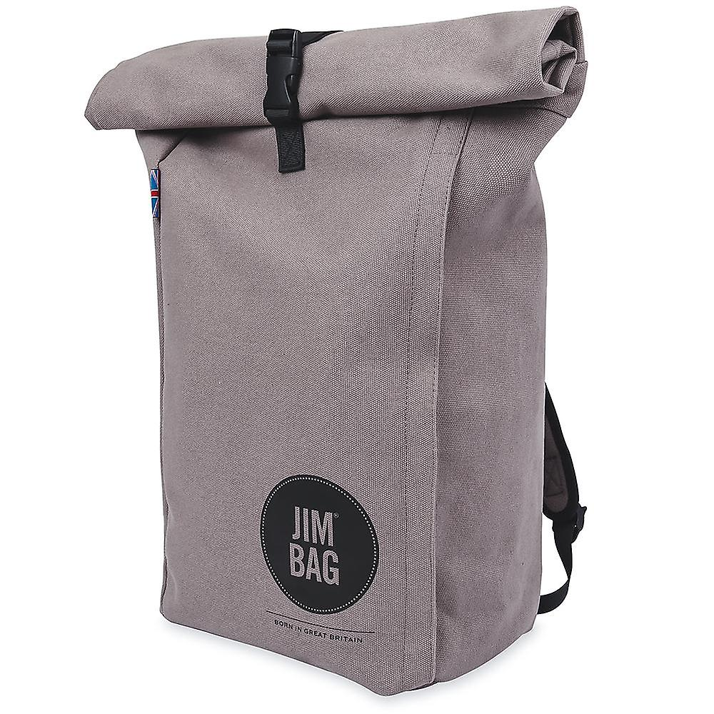 JIMBAG Grey Travel Fitness Gym Rolltop Outdoor Waterproof Backpack Bag Fits Laptop