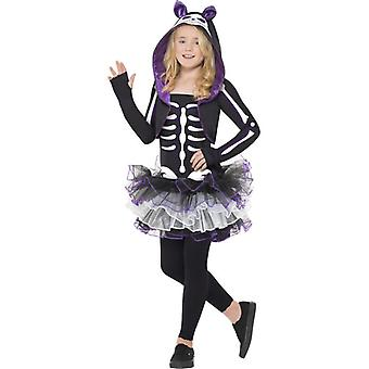 Skelly Cat Costume, Large Age 10-12