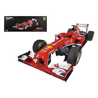 Ferrari F1 F138 Fernando Alonso Chine GP 2013 Elite Edition 1/18 Diecast Car Model par Hotwheels