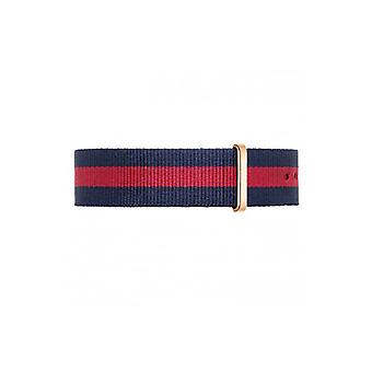 Red NATO band NATO strap fabric band 20mm suits daniel wellington