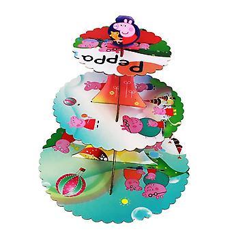 Peppa Pig 4 Thema Faltbare Karton 3-Tier Cupcake Stand