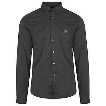 Boss Orange Hugo Boss Mypop_2 Long Sleeve Stretch Cotton Shirt Black 001 50414905