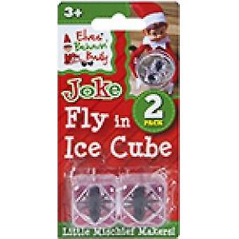 Elves Behavin Badly - Fly In Ice Cube - Standard Naughty Elf Joke