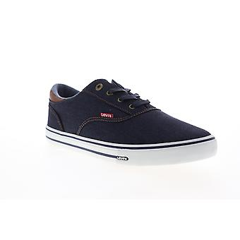 Levis Ethan Denim II Mens Blue Canvas Low Top Sneakers Chaussures