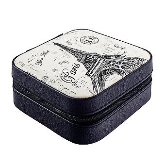 Travel box with Mirror, Black