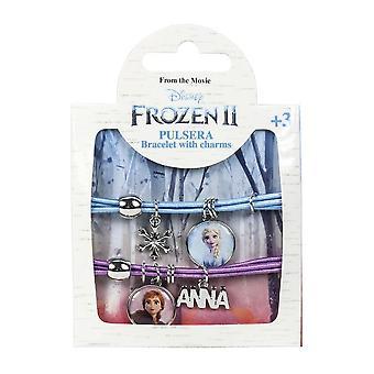 Frozen 2, 2x Armband - Blå och Lila