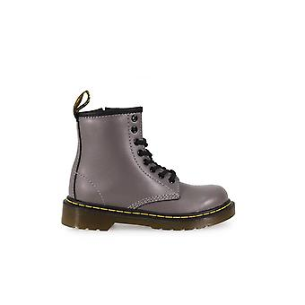 DR. MARTENS DELANEY GREY LEAD KIDS BOOT