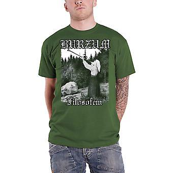 Burzum T Shirt Filosofem Band Logo new Official Mens Green