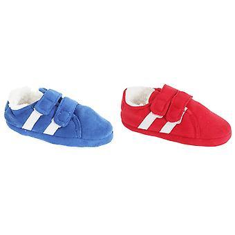 Slumberzzz Childrens/Kids Double Stripe Double Strap Slippers