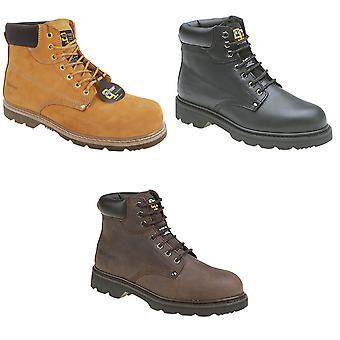 Mens grafters acolchoado segurança botas de tampão do dedo do pé