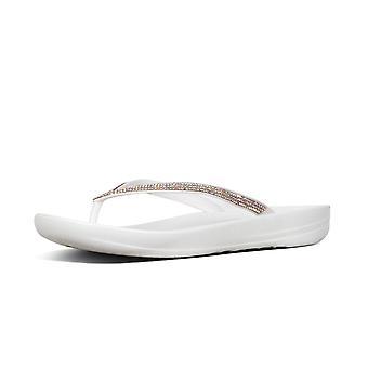 FitFlop Iqushion™ Gnistra ergonomiska Flip Flops i Urban White