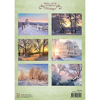 Nellie's Choice Decoupage sheets Christmas time-7 A4 - NEVI087