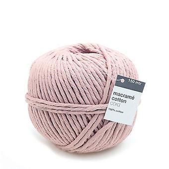 Vivant Macramé cord cotton 150m x 5mm - pink