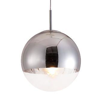 "15"" X 18"" X 15"" Chrome Kinetic Ceiling Lamp"