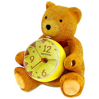 Miniature Kids Honey Teddy Bear Globe Novelty Collectors Desktop Clock IMP425