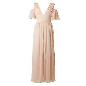Frans verbinding Constance draperen koude schouder jurk