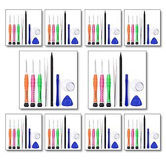 Antall 10 - 8Pcs verktøysett for alle iPhone modeller - inkluderer Pentelobe skrutrekker