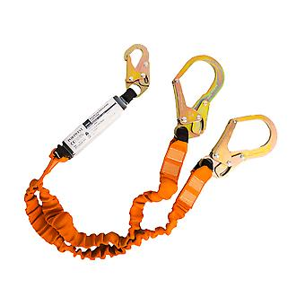 sUw - Double 140kg Fall Arrest Lanyard with Shock Absorber