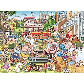 Wasgij Mystery 15 Typical British BBQ Jigsaw Puzzle (1000 Pieces)