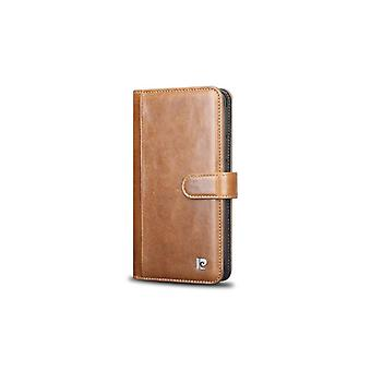 Pierre Cardin Leren Brieftasche Fall Hoesje Samsung Galaxy S9 Plus - Bruin