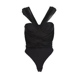 Elisabetta Franchi Bo19901e2110 Women's Black Viscose Bodysuit