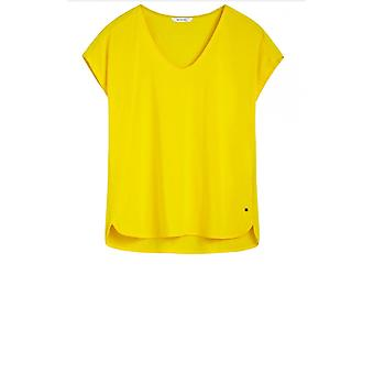 Sandwich Clothing Yellow Silky Front Top