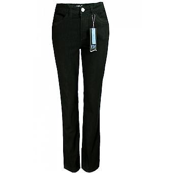 Franse Dressing Jeans Olivia Straight Leg Jeans - Black Denim
