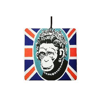 Banksy scimmia regina auto deodorante