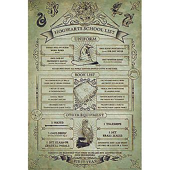 Harry Potter, Maxi Poster - Hogwarts School List