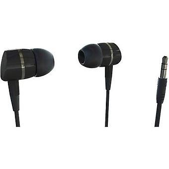 Vivanco SOLIDSOUND BLACK Hi-Fi In-ear headphones In-ear Black