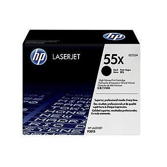 Hp 55X Black Toner 12500 Page Yield For Lj P3015