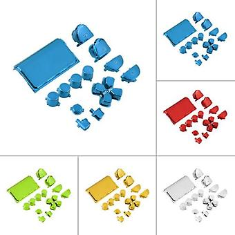 Replacement Mod Kit Set Full Buttons Custom Sony PS4 Playstation Controller[Chrome Blue]