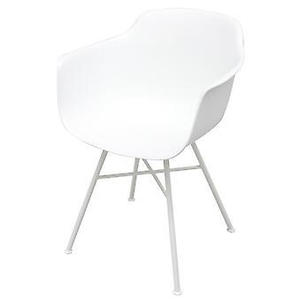 Sedia Giunone Color Bianco in Polipropilene, Metallo 52,5x59x80,5 cm