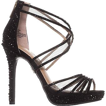 Thalia Sodi Womens Ceara Fabric Peep Toe Formal Strappy Sandals