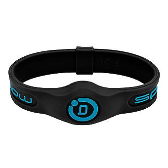 Sport Magnetic Wristband Black/Blue (Size: M (19 cm))