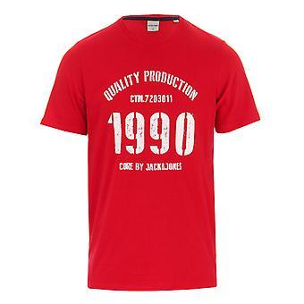 M. Jack Jones Jay Crew Logo Crew T-shirt en rouge