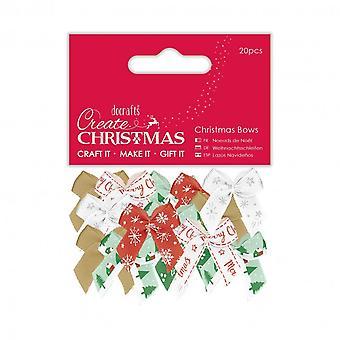 Papermania Christmas Bows (20pcs)