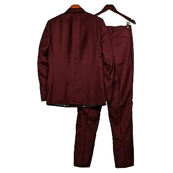 Stacy Adams Men's Double Breasted Suit Suit Set Burgundy Red