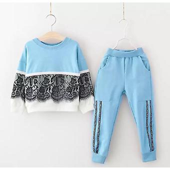 Girls Long Sleeve Tracksuit -Exotic Bird Pattern