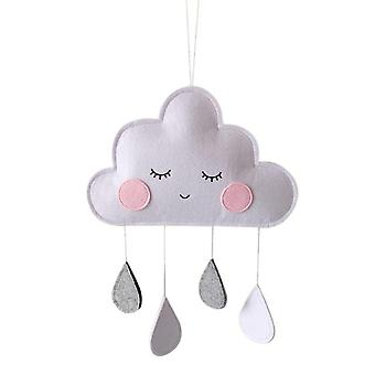 Cute Smiling Clouds Nordic Wind Baby Kids Room Wall Hanging - Nursery Cloud