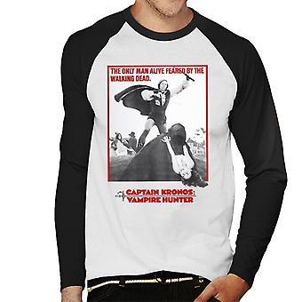 Hammer Horror films Captain Kronos alleen man levend mannen ' s honkbal lange mouwen T-shirt