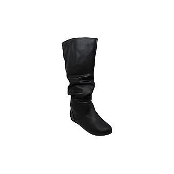 Brinley شركة النساء اضافية واسعة العجل منتصف العجل ترهل ركوب الأحذية السوداء, 7.5 السابقين ...