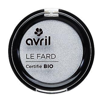 Iridescent pearl gray eyeshadow - certified organic 2,5 g of powder (Grey)