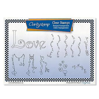 Claritystamp Linda's Love Dangles Umonterte frimerker