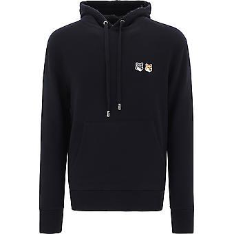 Maison Kitsuné Eu00353km0001black Men's Black Cotton Sweatshirt