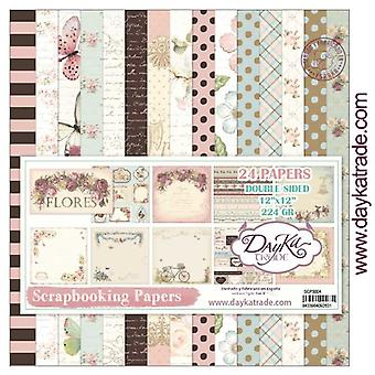 DayKa Trade Flores 12x12 Inch Paper Pack