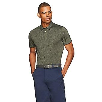 Essentials Men's Tech Stretch Polo Shirt, Olive Heather, Large