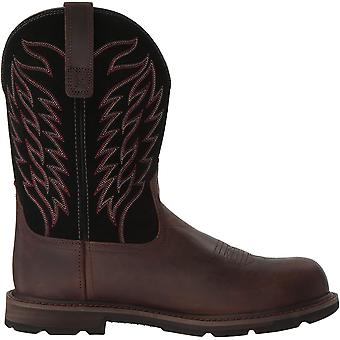 Ariat Mens Groundbreaker Pull-on Closed Toe Mid-Calf Fashion Boots